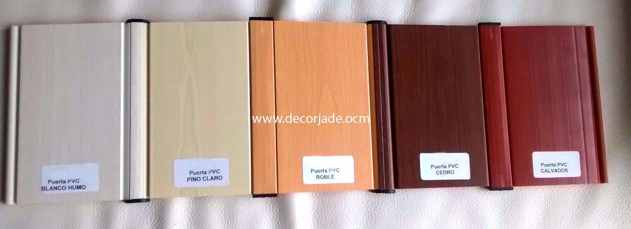 Puertas plegables de pvc lisa Colores disponibles