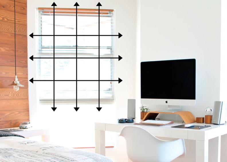 como medir cortinas fuera del marco
