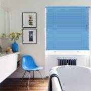 persianas horizontales de aluminio 25mm cortinashd – celeste