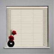 persianas horizontales de aluminio 25mm cortinashd – crema