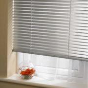persianas horizontales de aluminio 25mm cortinashd – plata brillante