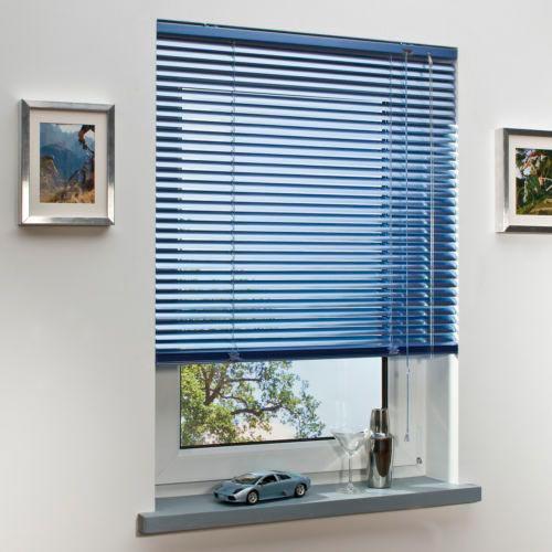Persianas horizontales de aluminio lamina lisa de 25 mm marca faber cortinashd - Persianas venecianas verticales ...
