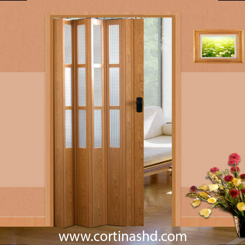 puerta plegable de pvc decorativa a la medida cortinashd On puertas plegables de pvc