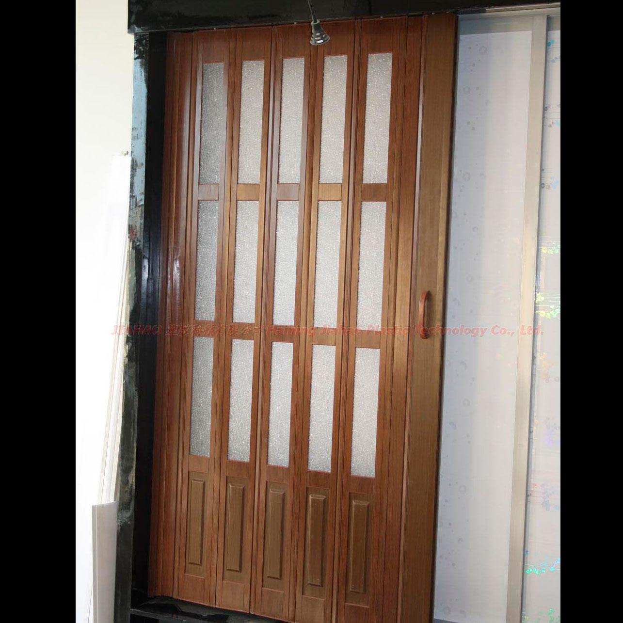 Puerta plegable de pvc decorativa a la medida cortinashd - Puertas plegables de pvc ...