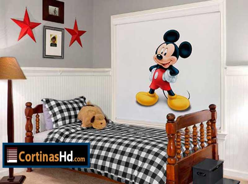 Cortinas para ni os dise o mickey mouse disney cortinashd - Cortinas infantiles disney ...