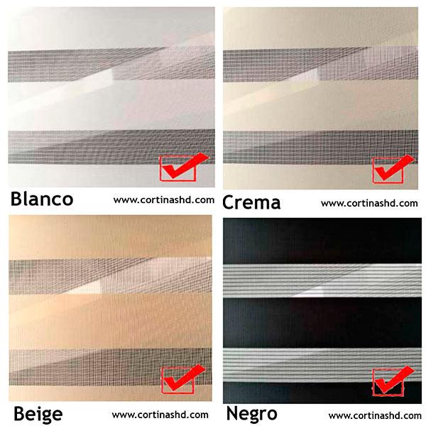 cortinas roller zebra duo doble colores cortinashd precios