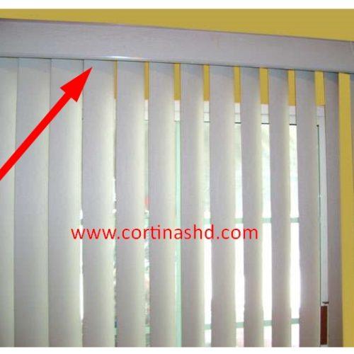 cenefa de pvc liso para persianas verticales de pvc peru